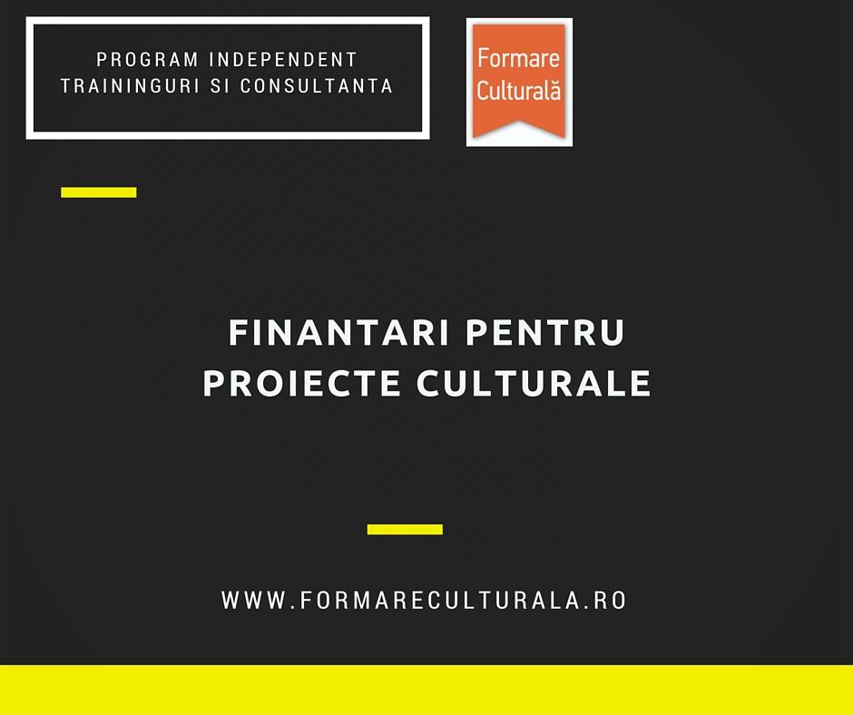 Finanțări pentru proiecte culturale