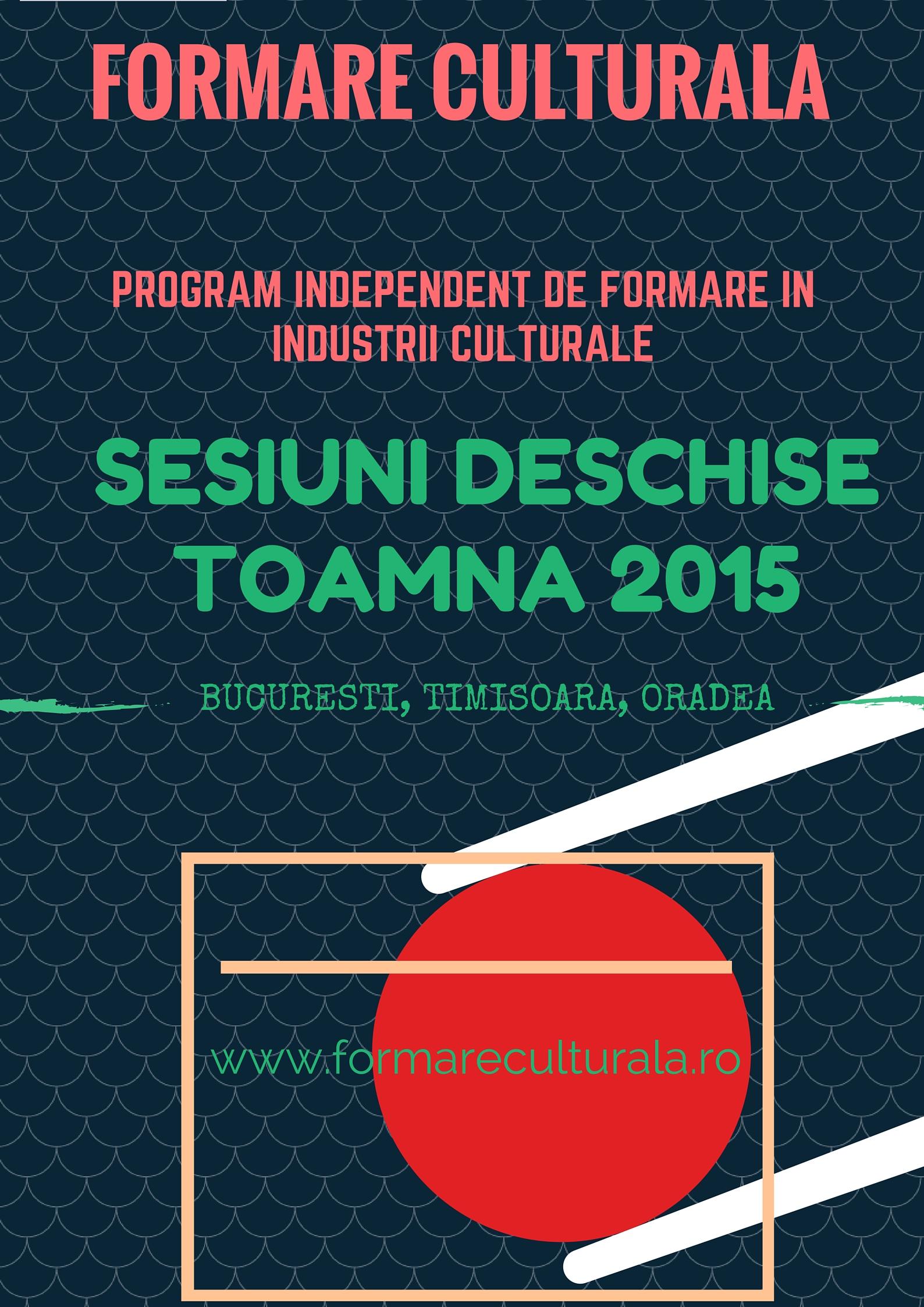 Experienta formalizata: formare profesionala in industrii culturale si creative @ Formare Culturala