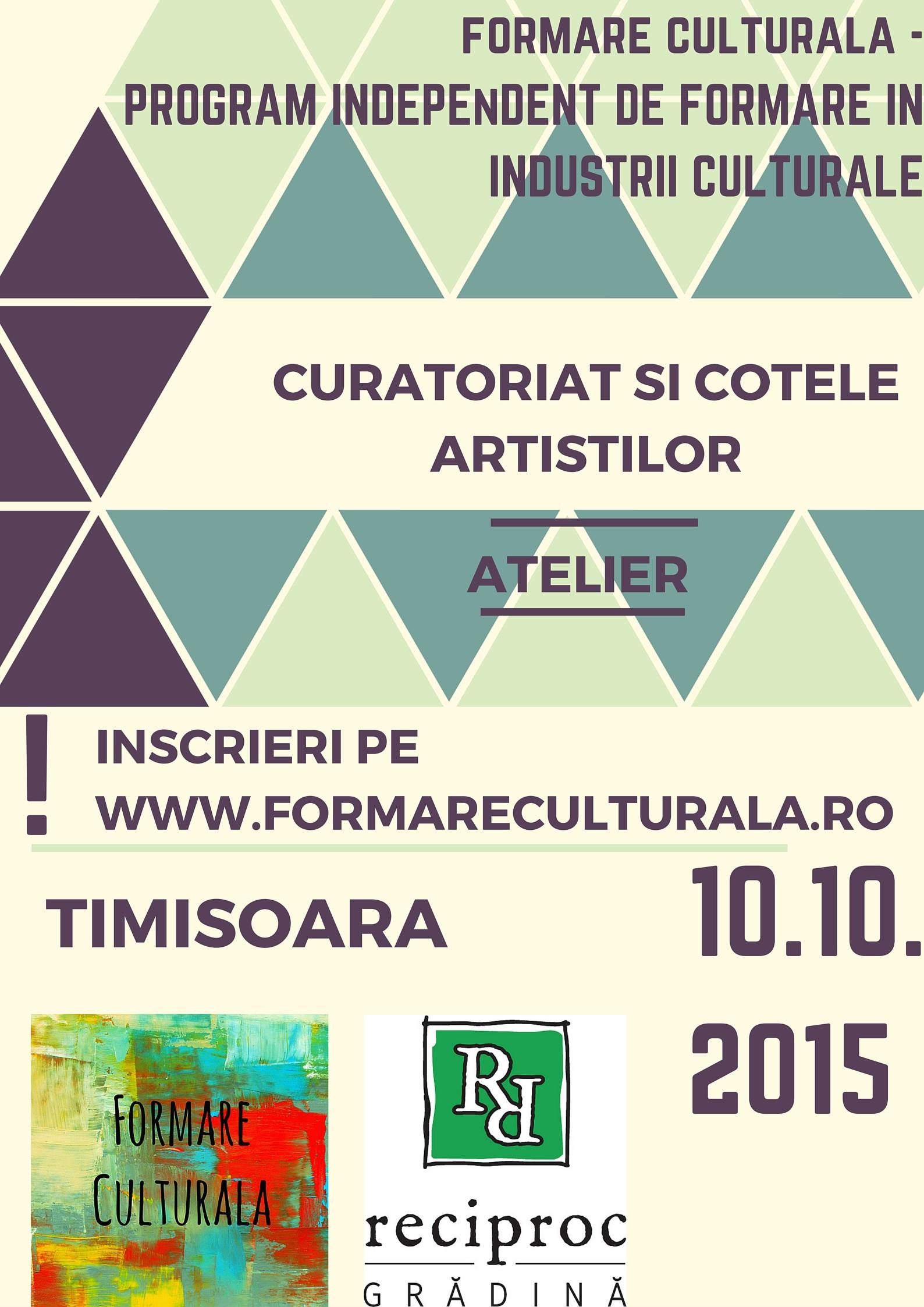 Formare profesionala in artele vizuale @ Cafeneaua sociala Reciproc, Timisoara