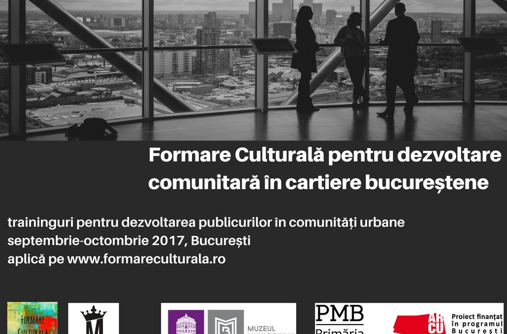 Dezvoltare comunitară prin proiecte culturale