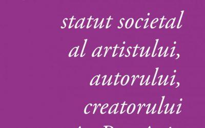 Propunere de politică publică privind statutul artistului